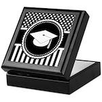 Graduation Gift Dots Stripes Keepsake Box