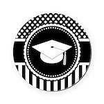 Graduation Gift Dots Stripes Cork Coaster