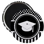 Graduation Gift Dots Stripes Magnets