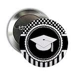 "Graduation Gift Dots Stripes 2.25"" Button (100 pac"
