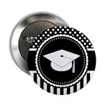 "Graduation Gift Dots Stripes 2.25"" Button (10 pack"