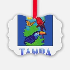 Macaw, Parrot, Butterfly, Jungle Ornament