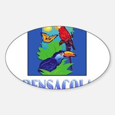 Macaw, Parrot, Butterfly, Jungle PENSACOLA Decal