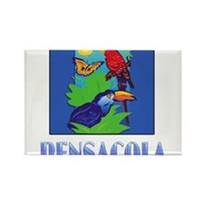 Macaw, Parrot, Butterfly, Jungle PENSACOLA Magnets