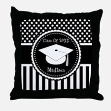 Graduation Personalized Dotted Gift Throw Pillow