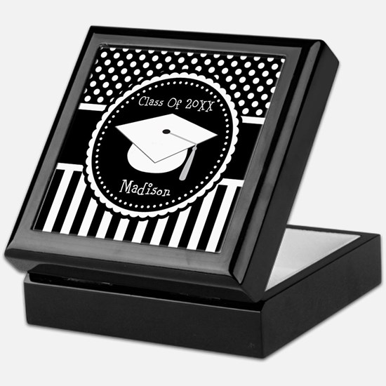 Graduation Personalized Dotted Gift Keepsake Box