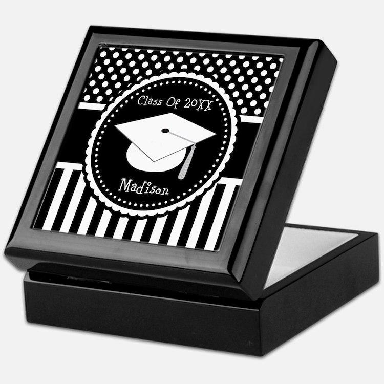 Graduation Personalized Dotted Gift Keepsake Box