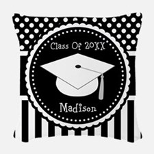 Graduation Personalized Dotted Gift Woven Throw Pi