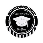 "Graduation Personalized Dotted Gift 3.5"" Button"