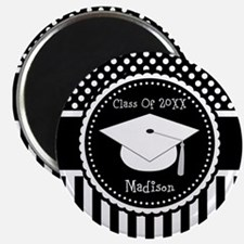 Graduation Personalized Dotted Gift Magnets