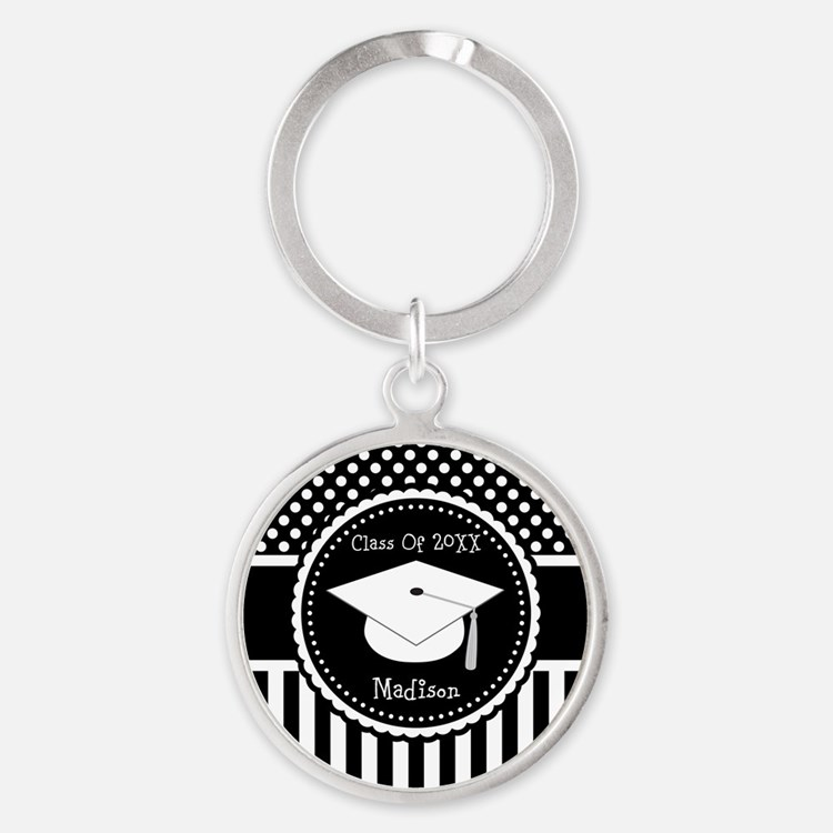 Graduation Personalized Dotted Gift Keychains