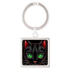 Black Cat Portrait Keychains