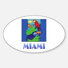 Macaw, Parrot, Butterfly, Jungle MIAMI Decal