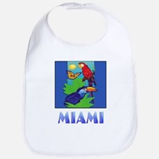 Macaw, Parrot, Butterfly, Jungle MIAMI Bib