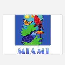 Macaw, Parrot, Butterfly, Postcards (Package of 8)