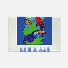 Macaw, Parrot, Butterfly, Jungle MIAMI Magnets