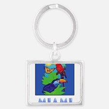 Macaw, Parrot, Butterfly, Keychains