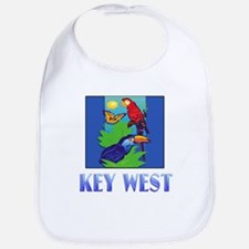 Macaw, Parrot, Butterfly, Jungle KEY WEST Bib