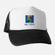 Macaw, Parrot, Butterfly, Jungle KEY Trucker Hat