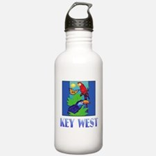 Macaw, Parrot, Butterf Water Bottle