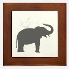 Elephant Silhouette Framed Tile