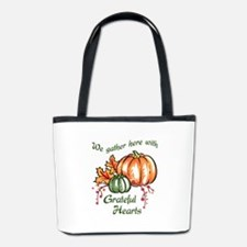 We Gather Here With Grateful Hearts Bucket Bag