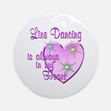 Line Dancing Heart Ornament (Round)