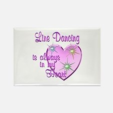 Line Dancing Heart Rectangle Magnet (10 pack)