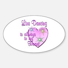 Line Dancing Heart Decal