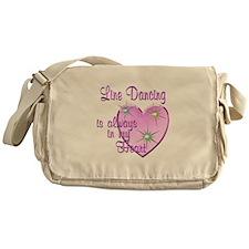 Line Dancing Heart Messenger Bag
