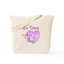 Line Dancing Heart Tote Bag