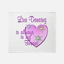 Line Dancing Heart Throw Blanket
