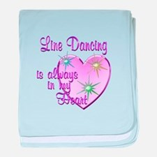 Line Dancing Heart baby blanket