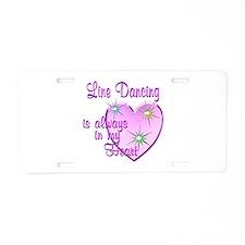 Line Dancing Heart Aluminum License Plate