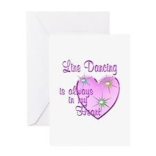 Line Dancing Heart Greeting Card