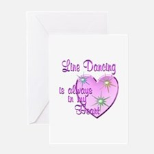 Line Dancing Heart Greeting Card