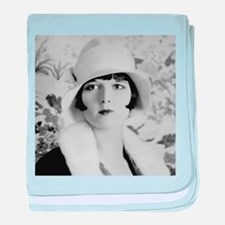 louise brooks silent movie star baby blanket