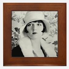 louise brooks silent movie star Framed Tile