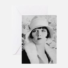 louise brooks silent movie star Greeting Cards