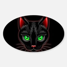 Black Cat Portrait Decal