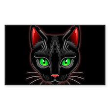 Black Cat Portrait Decal