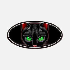 Black Cat Portrait Patches