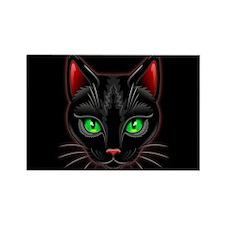 Black Cat Portrait Magnets