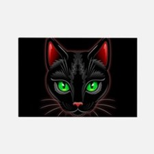 Black Cat Portrait Magnets