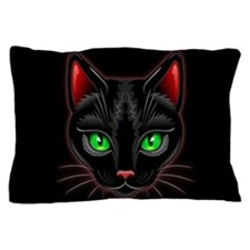 Black Cat Portrait Pillow Case