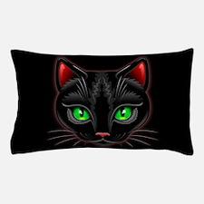 Black Cat Portrait Pillow Case