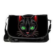 Black Cat Portrait Messenger Bag