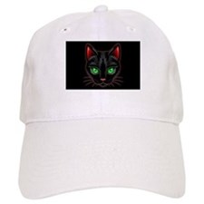 Black Cat Portrait Baseball Baseball Cap