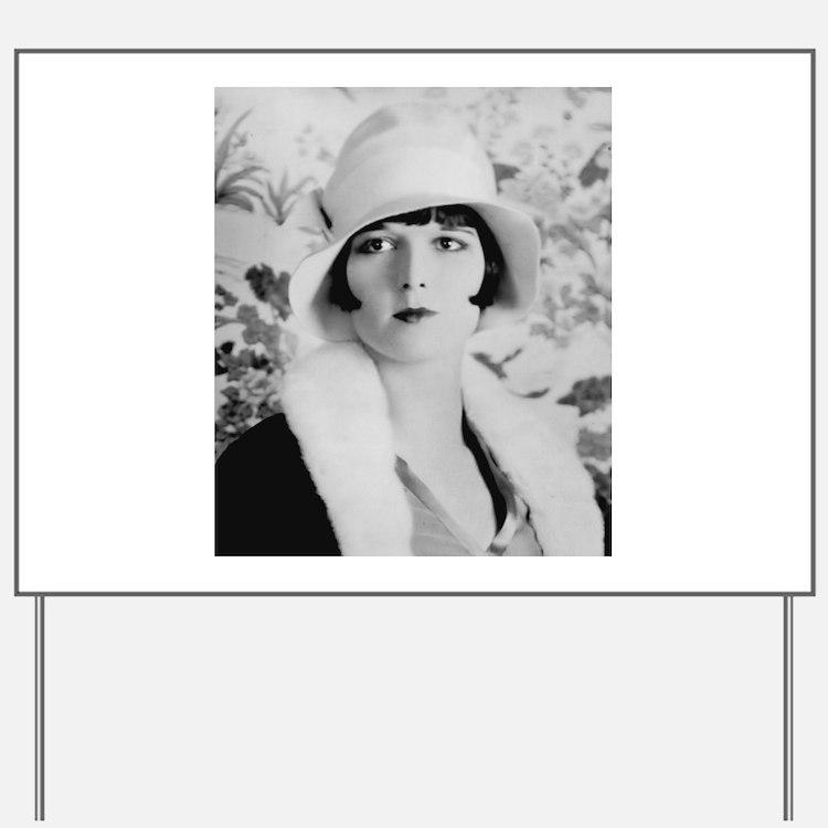louise brooks silent movie star Yard Sign
