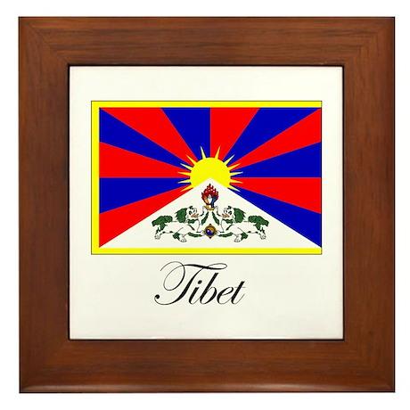 Tibet - Flag Framed Tile